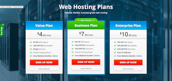 fastwebhosting website
