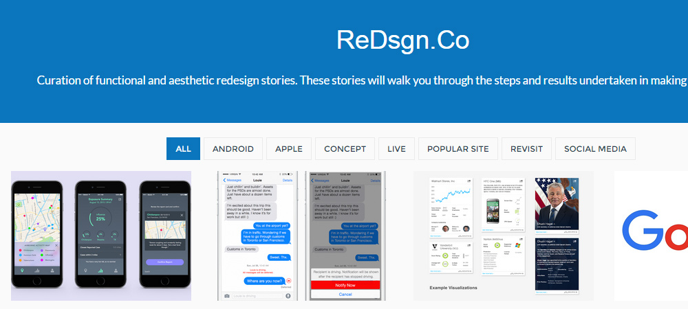 ReDsgn redesign story website